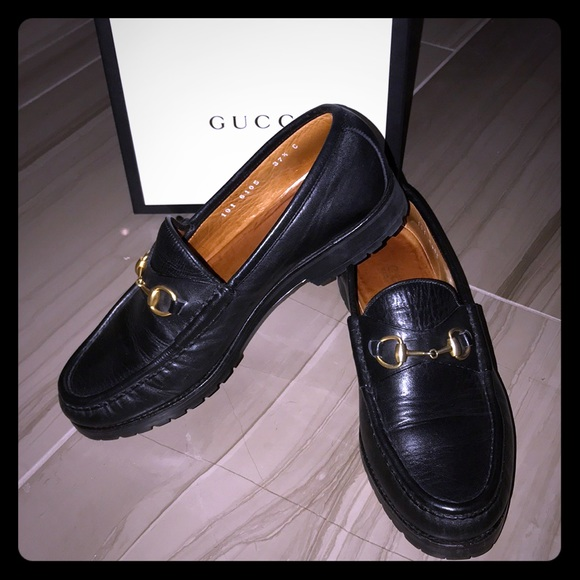 0a7498b8a7e Gucci Shoes - Authentic GUCCI Horsebit-detailed leather loafers